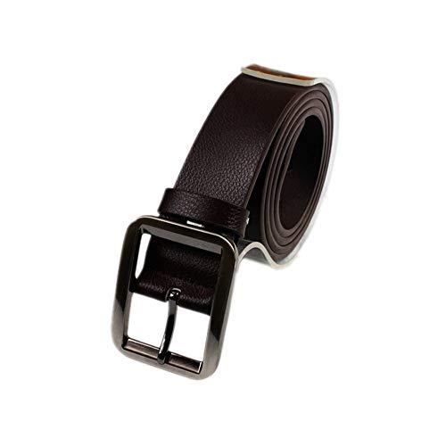 Yilvguang Ledergürtel für Männer Brown Cow Leder Square Prong Buckle Jeans Gürtel Bund Verstellbare Gürtel für Männer (Color : C, Größe : M) -