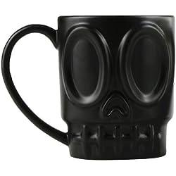 Hemoton - Taza de cerámica cráneo 3D, para té o café, color negro
