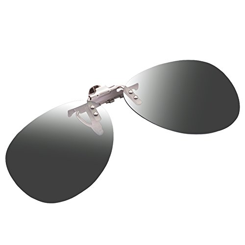 Zheino Uomini alla moda Donne Polarized Clip-on Occhiali da sole in plastica Lenti flip-up occhiali Guida Pesca Sport Outdoor Grey