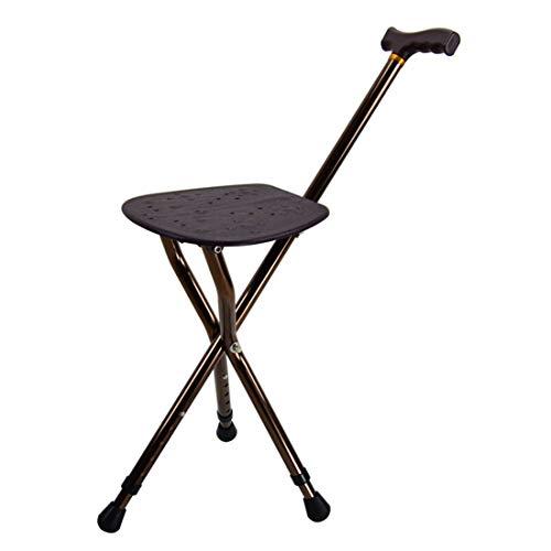 LYLN Höhenverstellung des Sitz-Spazierstocks 83-93 cm Stock Sitz 350 £ Kapazität Combo-Stühle Hocker Faltstöcke,Brown (Sitz-spazierstock)