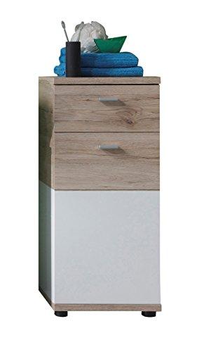 Trendteam smart living mobili, metallo, bianco, 36 x 81 x 31 cm