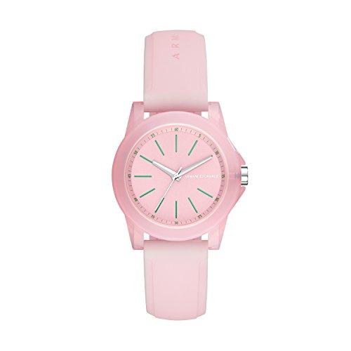Armani Exchange Reloj Analógico para Mujer de Cuarzo con Correa en Silicona AX4361