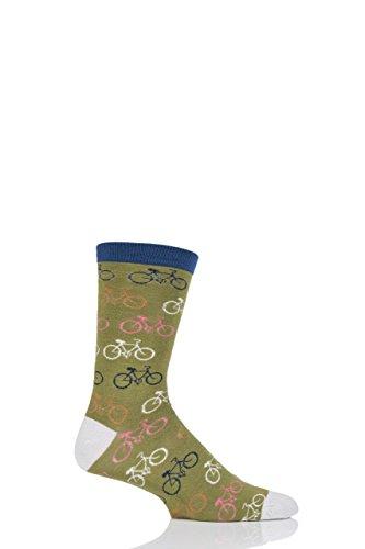 Herren 1 Paar Braintree Radfahrer Bambus und Bio-Baumwolle Socken-Olive-40-46 Herren
