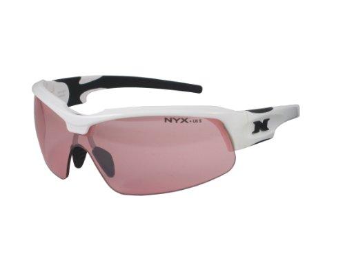 NYX Sport Vision Pro z-17Serie Sonnenbrille mit Z87.1Sicherheit Bewertung schwarz, weiß-schwarz Rahmen/Light Zinnoberrot Sicherheit Objektiv, Medium