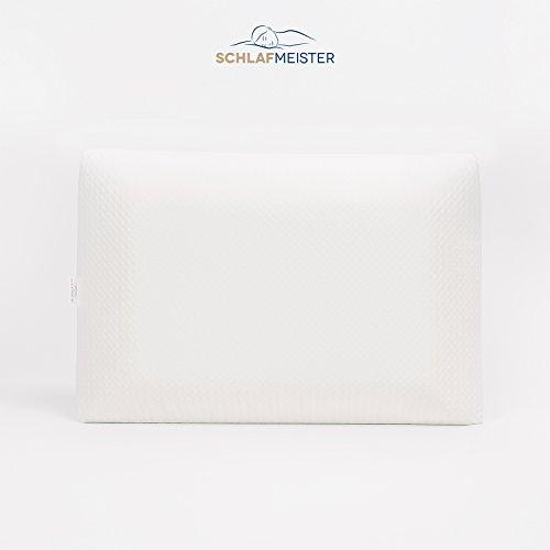 Oreiller Coussin - MÈmoire de Forme 100 % Visco-Èlastique - Ultra Confortable & Anti Allergique - LivrÈ avec 2 taies d'oreiller image 1