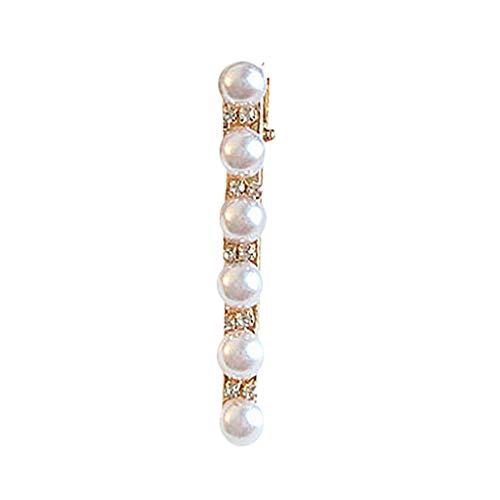 Floweworld Haarspangen mit Perle INS Mode niedlichen Mädchen Perle Perle Barrette Haarspange Haarnadel Headwear Haarschmuck Geschenk für Mädchen Damen
