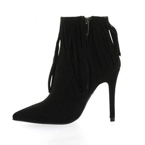 Essedonna Boots cuir velours noir Noir