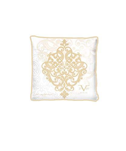 Sofakissen mit Füllung und Bezug Kissen 40 x 40 cm Versace 1969 (Kissenbezug Gold, Couchkissen, Gefüllt, Reißverschluss)