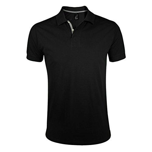 SOLS Herren Portland Pique Polo-Shirt, Kurzarm Frühlingsgrün