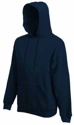 Fruit of the Loom - Kapuzen-Sweatshirt 'Hooded Sweat' L,Deep Navy (Pullover Shirt Männer)