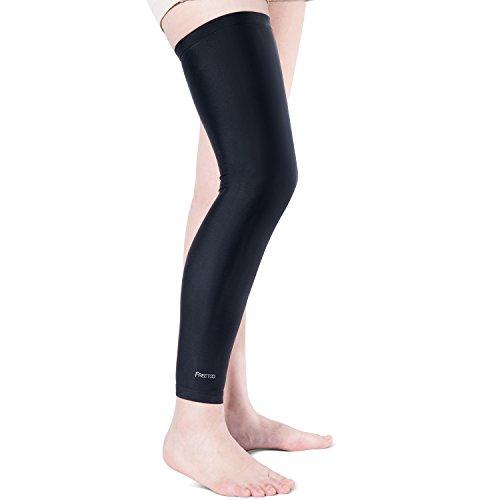 [Beinlinge] FREETOO Leg Sleeve atmungsaktive und Anti-rutsch kompression Beinstulpe für Fahrrahd MBT Ballsport Joggen und Fitness, XL