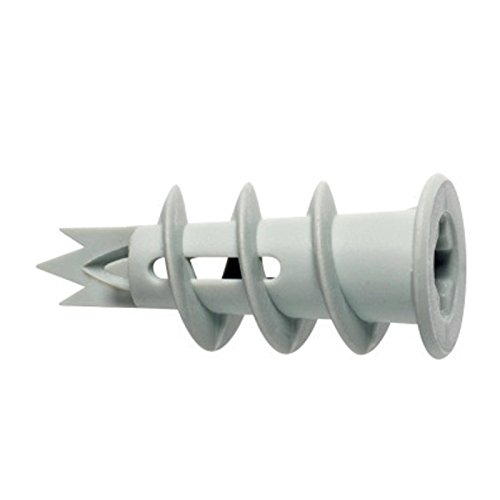 Kunststoff-dübel (100 Stück Gipskartondübel, Hohlraumdübel, Rigipsdübel, Dübel aus Kunststoff mit Spitze)