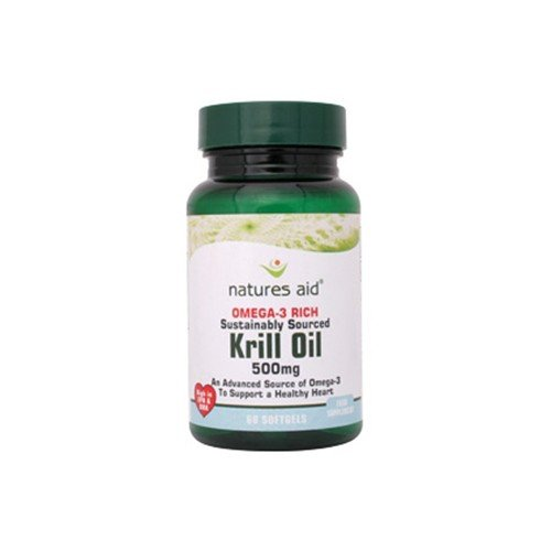 Natures Aid Krill Oil 500mg (Superba) 60 Caps