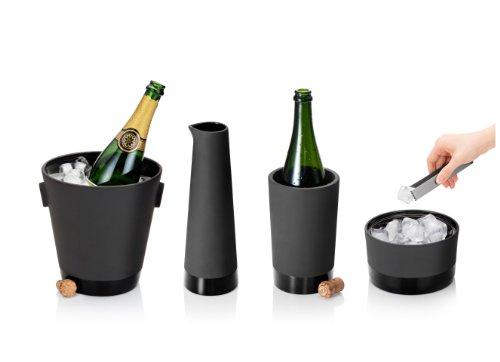 Magisso 70604 Flaschen- und Weinkühler in Keramik, hält das Getränk 4-6 Stunden natürlich abgekühlt durch Verdunstung, 12,7 x 12,7 x 20,9 cm - 16