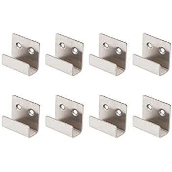 Lot de 4 Fort Attaches/® Miroir dAngle Bracket 32/ mm x 32/ mm x 6/ mm Plaqu/é nickel