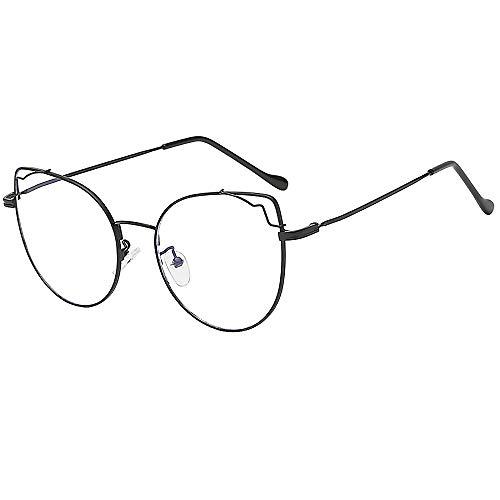 SUMTTER Nerd Brillen im Klassiker Stil Verspiegelte HD Linse Retro Mode Vintage Damen & Herren Brille Metallrahmen