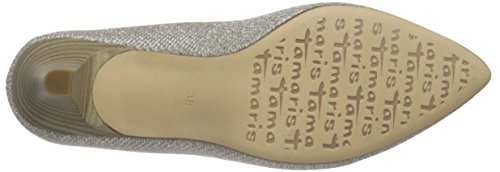 Tamaris Damen 22455 Pumps Gold (GOLD GLAM 935)