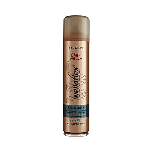 Wella Wellaflex Extra Stark Haarspray für bis zu 24h, XXL-Größe, 6er Pack (6 x 400 ml)