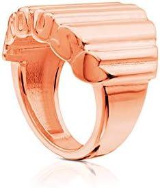 TOUS Anillo Mujer vermeil rosado, baño rosa de oro 18kt, talla 11,5