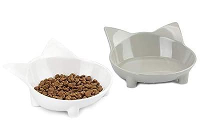 lesotc Cat Bowl, Cat Food Bowls, Double Pet Cat Dish by lesotc