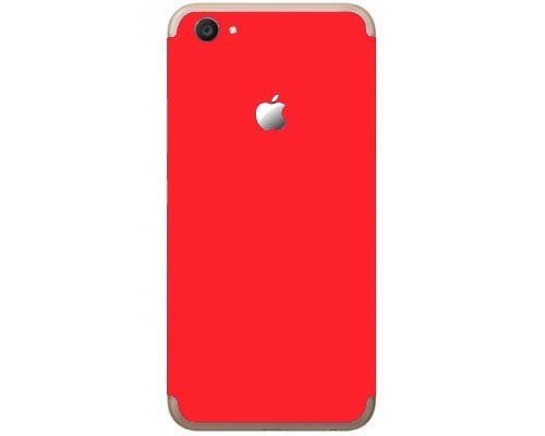 GADGETS WRAP Vivo V5s Red Matte Skin with Apple Logo Apple iPhone Style for Back Only -CO- B10B12