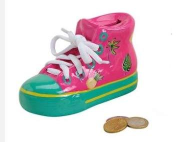 DS Hucha–Zapatos–Hucha–Hucha de cerámica en 2Colores, Rosa