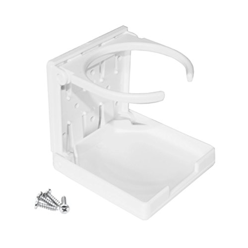Versandbox24 1 Stück Getränkehalter klappbar Dosenhalter Flaschenhalter Becherhalter weiß Boot KFZ Kunststoff
