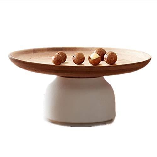 ik Bambus Trockenobst Dessert Tablett, getrocknete Platte Snack Frühstück Dish Schalen, rotierenden Haushalt Wohnzimmer Snacks Fach Lagerung ()