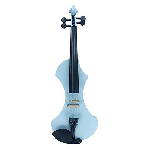 Sharplace Profi 4/4 elektrische Violinen aus HolzGeigen Set, inkl. Koffer + Bogen + Kolofonium, farben auswählen - Grau