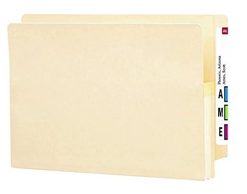 Smead End Tab File Pocket, Reinforced Straight-Cut Tab, 1-3/4