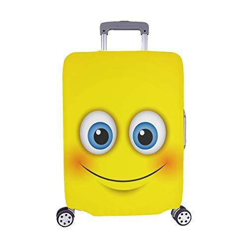 (Nur abdecken) Nette lächelnde Emoticon Emoji Smiley Vektor Muster Staubschutz Trolley Protector case Reisegepäck Beschützer Koffer Abdeckung 28,5 X 20,5 Zoll