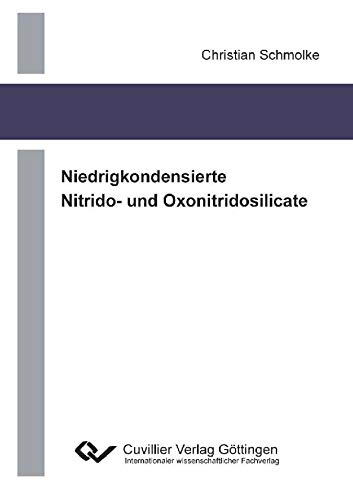 Niedrigkondensierte Nitrido- und Oxonitridosilicate