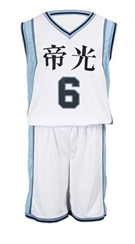 Chong Seng CHIUS Cosplay Costume Jersey Set for Teikou Middle School No. 6 Aomine Daiki - Middle School Boy Kostüm