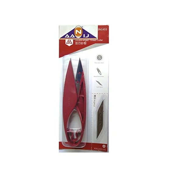AANIJTM Embroidery Sewing Snips Double Edge Thread Cutter Scissors (Multi Color) - Set of 1