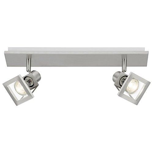 Brilliant AG G37429/77 Plafonnier LED à 2 lumières Métal 4 W GU10 Acier/Chrome