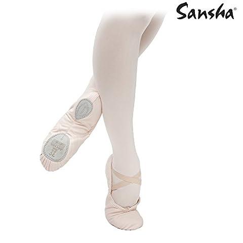 SANSHA 3C SILHOUETTE Chaussure de danse Demi-pointes pour Femme en Toile - Noir - 40.5 EU (Taille Fabricant: 11)