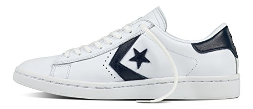 Converse, Donna, Pro Leather LP Leather, Pelle, Sneakers, Bianco Bianco-blu