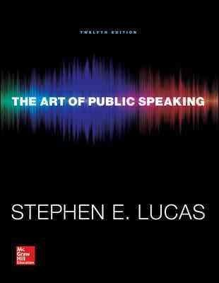 [ { The Art of Public Speaking with Connect Access Card } ] BY ( Author ) Oct-2014 [ Paperback ]