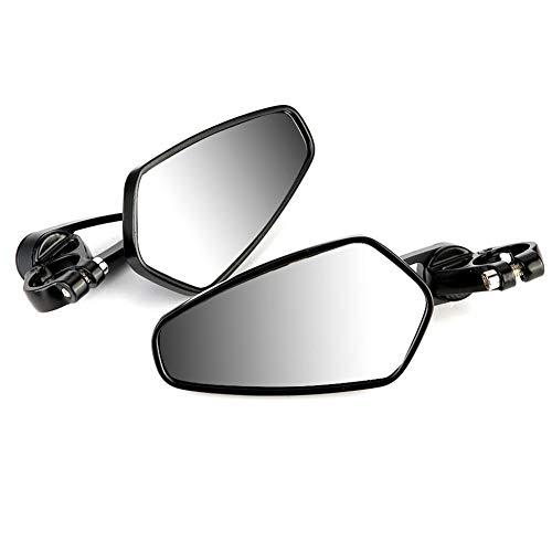 Outbit Rückspiegel - 22mm Motorrad Rückspiegel Rückspiegel CNC für Honda GROM MSX125 CB50 (Zubehör Grom Honda)