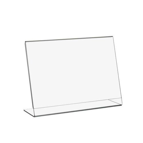 DIN A5 L-Ständer/Werbeaufsteller im Querformat aus Acrylglas - Zeigis