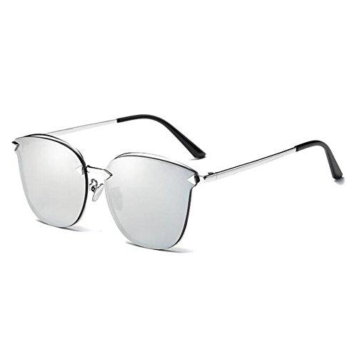 NAN Frühling und Sommer neue Sonnenbrille Mode koreanische Männer und Frauen Gläser ( Farbe : E ) (Rennen-auto-nase)