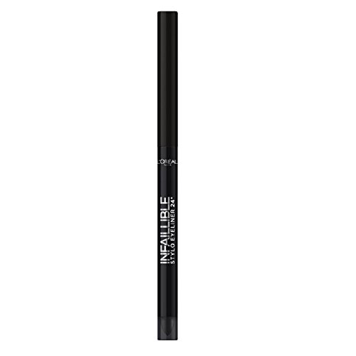 L'Oréal Makeup Designer Paris Infallible 24H Matita Occhi Waterproof, 301 Night Day Black