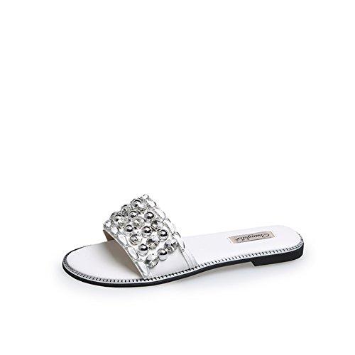 Lady,Summer,Rivet,Flat Sandals/Talon Plat,A-ligne Chausson B