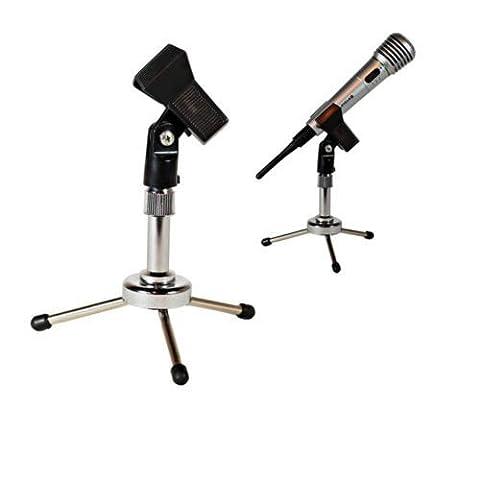 Generic NV _ 1001003137_ yc-uk2ND ukrip Tisch Mikrofon top T Tragbarer Metall Mikrofon m Klemme Clip Verfeinern Stativ Desktop Clip Halter Ständer UK (T-post Clips)