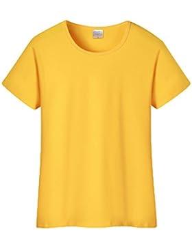 ZKOO Mujers Color Sólido Camiseta Modal Manga Corta Ronda Cuello Básico Camiseta Verano T-Shirt Tops Blusa