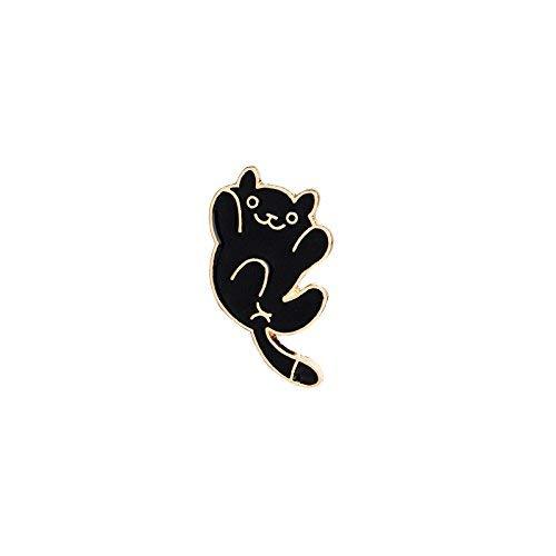 KEKE Nette Brosche Cartoon Katze Form Broschen Neuheit Pin Badge Zubehör für Kleidung Hemd Jacken Mäntel Krawatte Hüte Caps Taschen (Farbe : A2)
