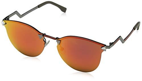 Fendi Damen FF 0040/S UZ CEM Sonnenbrille, Grau (Dkruth Poppy/Red Fl), 60