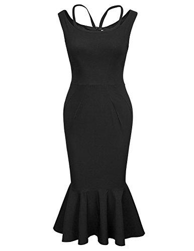Belle Poque Stretchkleid Mermaid sexy Bodycon Kleid Damen Kleid büro Kleid 50s Vintage Dress S BP412-1