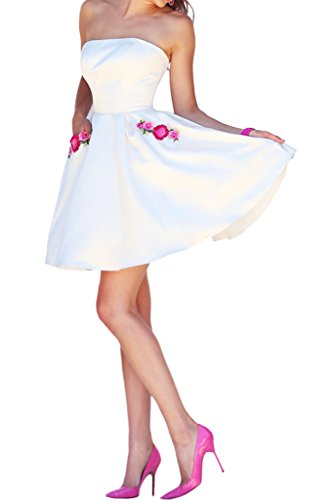 Promgirl House - Robe - Trapèze - Femme Blanc