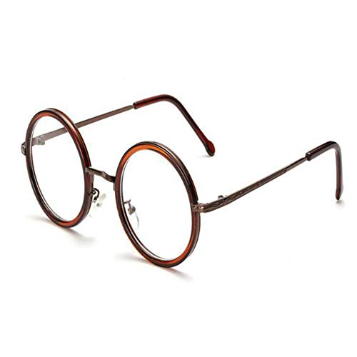 HPTAX-VB Spiegeln Retro Runde Rahmen Brille Klare Linse Eyewear Männer Und Frauen Anti Eyestrain Strahlung Brillen